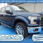 2017 Ford F-150 XLT 302A Blue Jeans color with the Chrome Appearance Package
