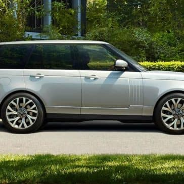 2019 Range Rover Exterior Driving down Street