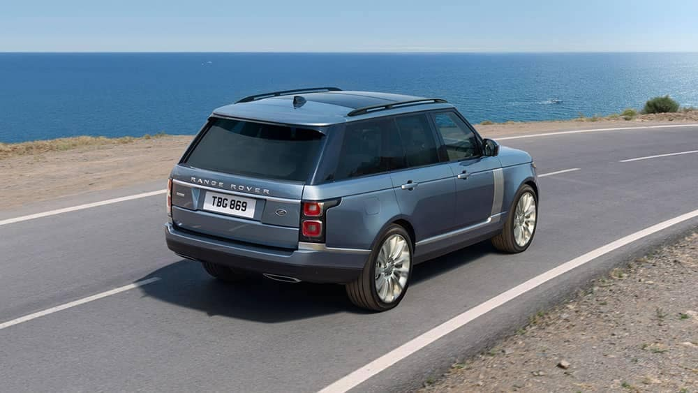 2019 Range Rover On the Road next to Ocean
