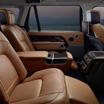 2019 Range Rover Black and Tan Leather Backseat