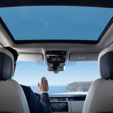 2019 Range Rover Interior with View of Sunroof