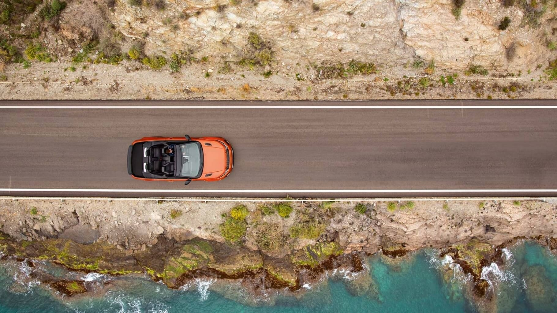 2017 Land Rover Range Rover Evoque Convertible driving top view
