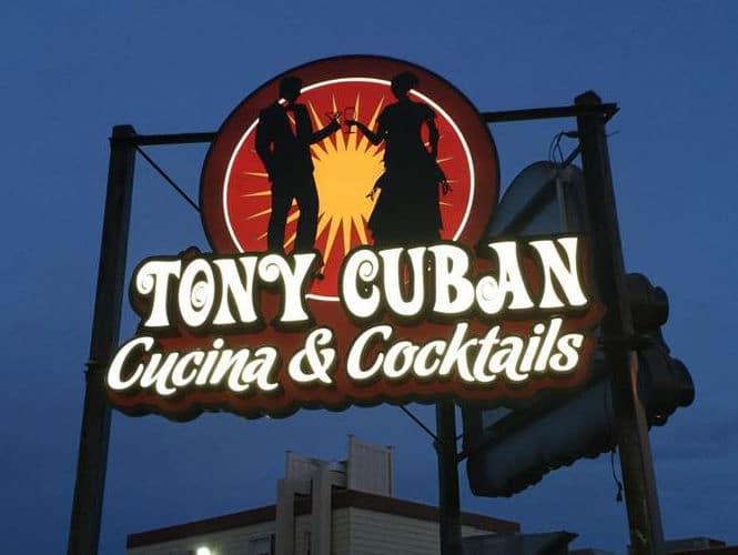 TONY CUBAN RESTAURANT Sign