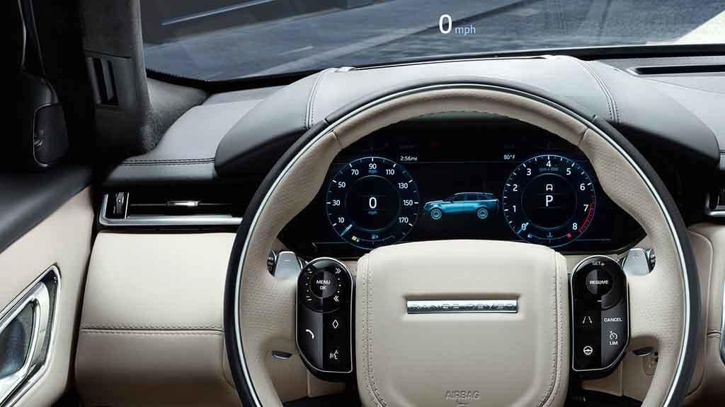 2018 Land Rover Range Rover Velar Interactive Display