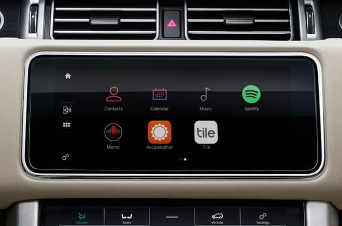 2018 Land Rover Range Rover Incontrol Apps Display Screen