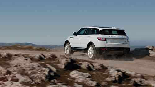 2018 Land Rover Range Rover Evoque driving on a dirt road