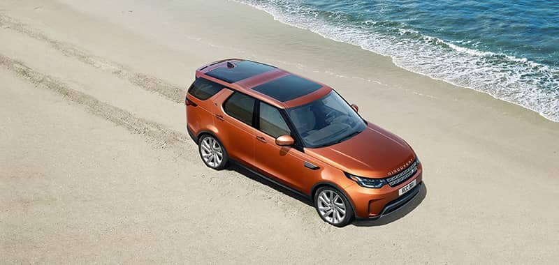 2018 Land Rover Discovery Parked on a Beach