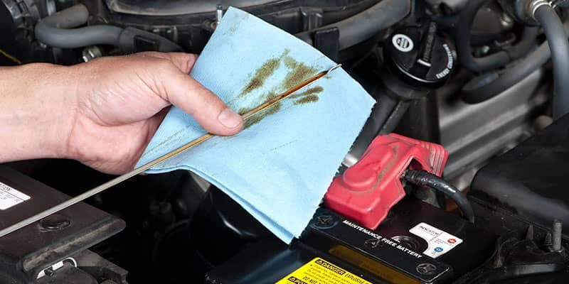 Auto Mechanic Checking Oil