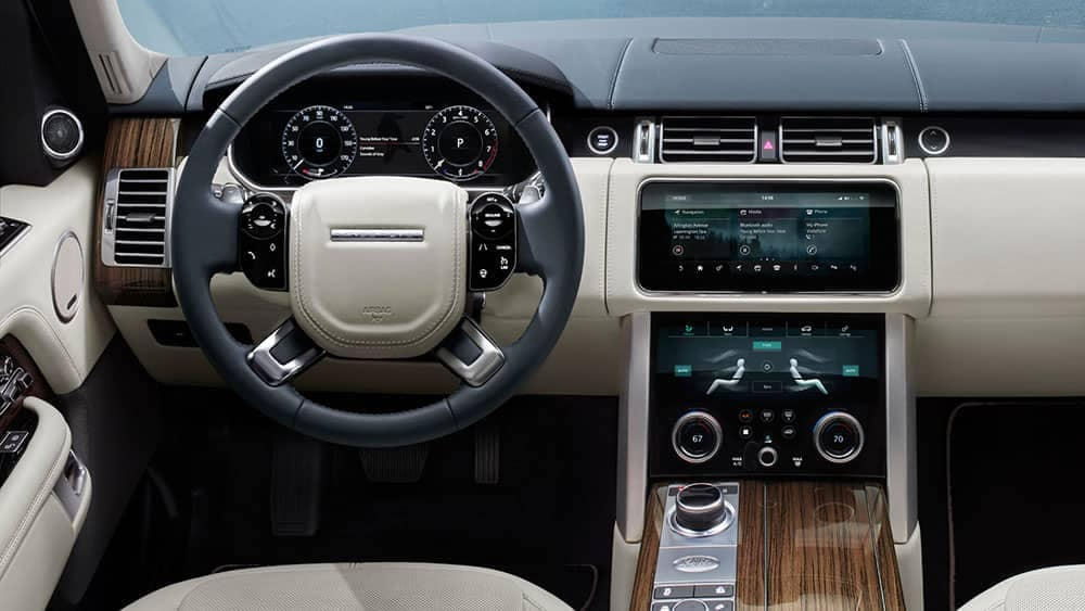 2019 Land Rover Range Rover Interior Dashboard and Steering Wheel