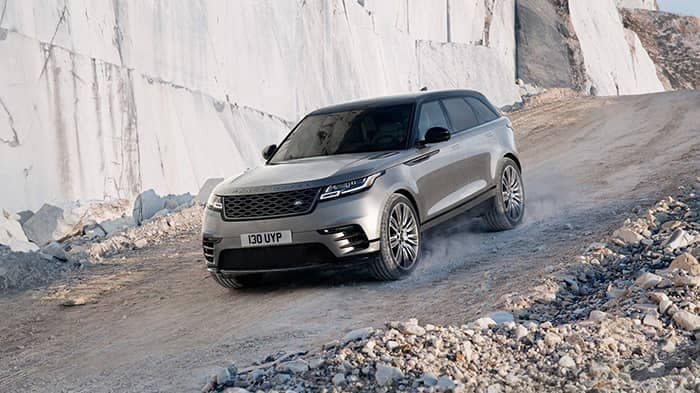 2018 Land Rover Range Rover Velar Off-Roading Down Mountain