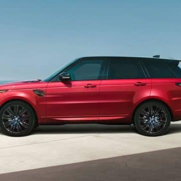 2019 Range Rover Sport red exterior side view