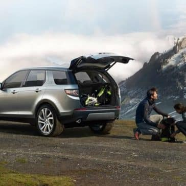 2019 Land Rover Discovery Sport Parked on Top of Mountain
