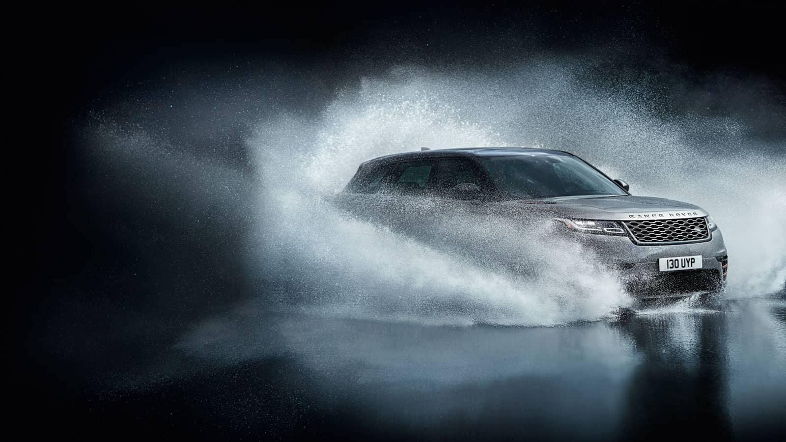 2019 Range Rover Velar Off-Roading Through Water