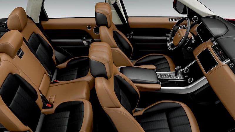 Tan Range Rover Sport interior