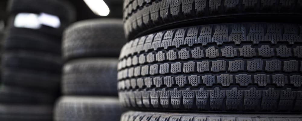 tires piled up in stacks