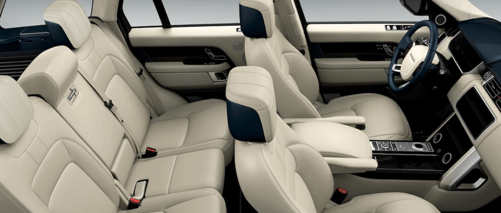 interior of 2020 Jaguar F-PACE back row seating