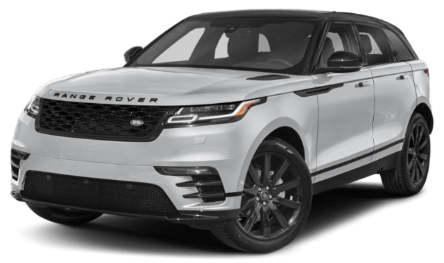 2020 Range Rover velar silver SUV viewed from front