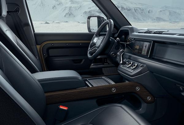 Land Rover Defender interior driver seat