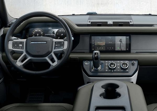 Land Rover Defender interior dashboard