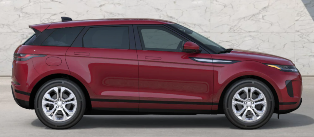 The 2021 Range Rover Evoque in Firenze Red