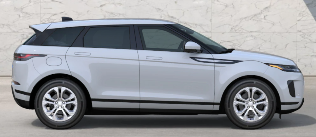 The 2021 Range Rover Evoque in Yulong White