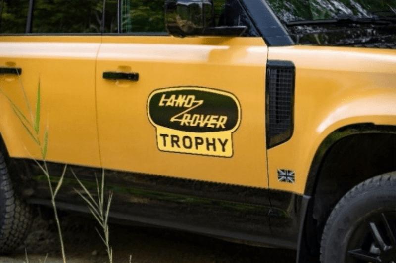 Close-up for 2022 Land Rover Defender Trophy passenger door