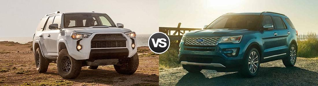 2017 Toyota 4Runner vs 2017 Ford Explorer