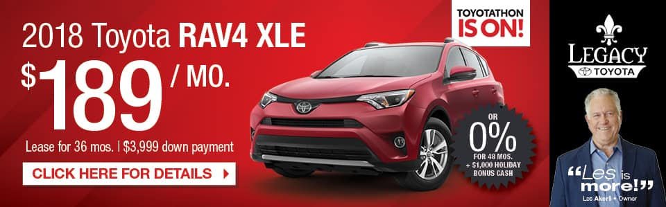 2018 Toyota RAV4 XLE Lease Special Tallahassee FL