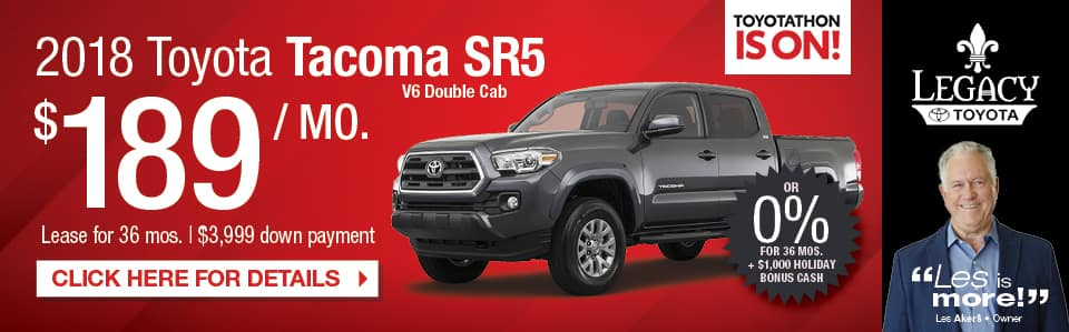 2018 Toyota Tacoma Lease Special Tallahassee FL