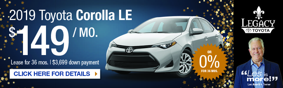 2019 Corolla LE Special Tallahassee FL