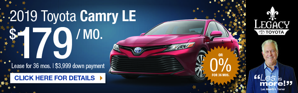 New 2019 Toyota Camry LE Special Tallahassee FL