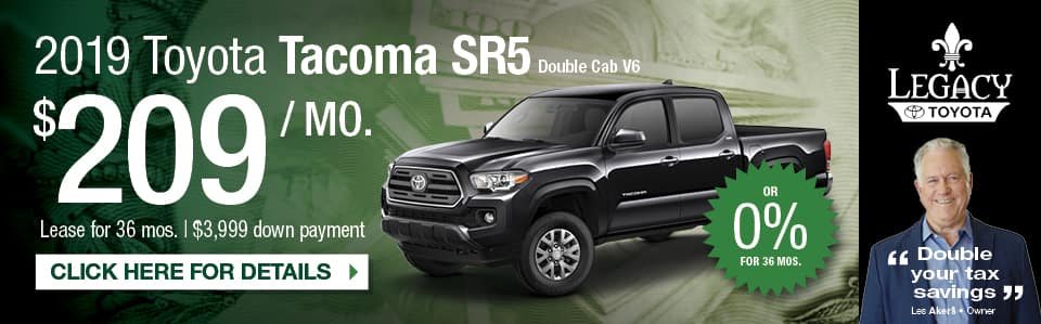 Lease Special New 2019 Tacoma SR5 in Tallahassee FL