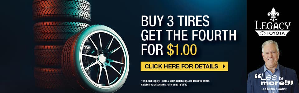 Buy 3 Get the Fourth for $1 Tire Special Tallahassee FL