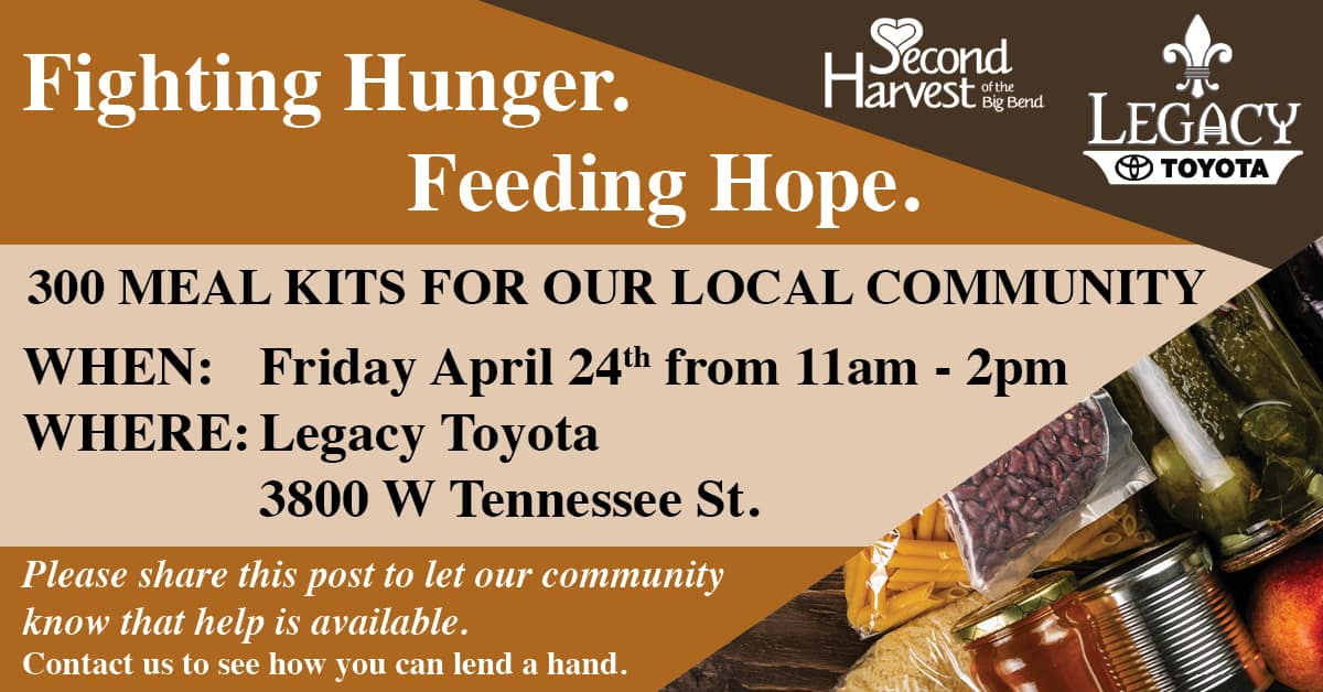 Food Giveaway at Legacy Toyota Tallahassee FL