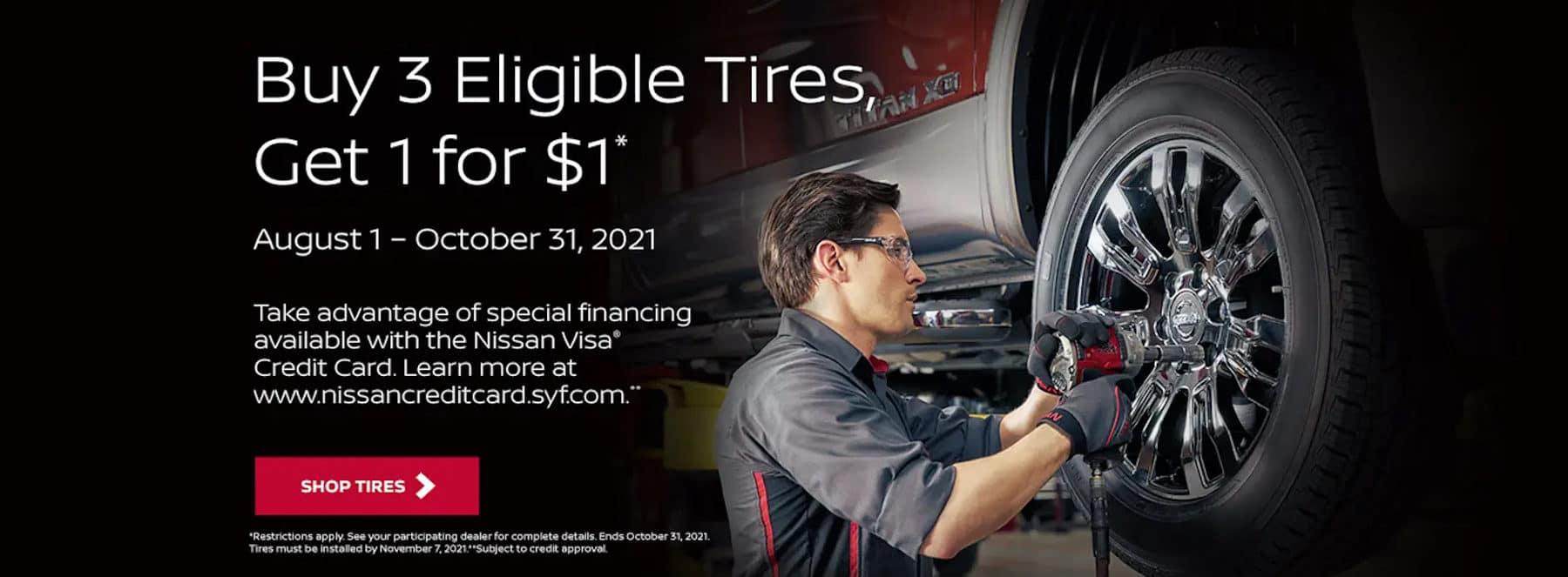 Nissan Buy 3 Get 1 Tires