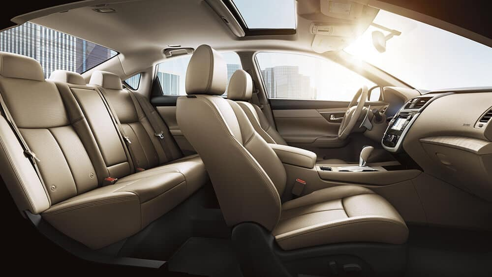 2018 nissan altima sedan interior seating beige leather original
