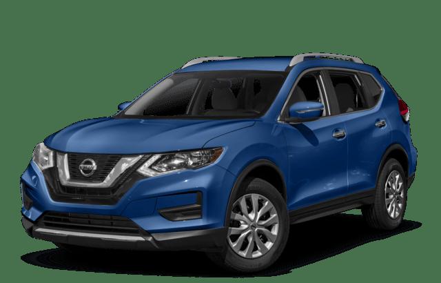 2018 Nissan Rogue Side Angled Blue