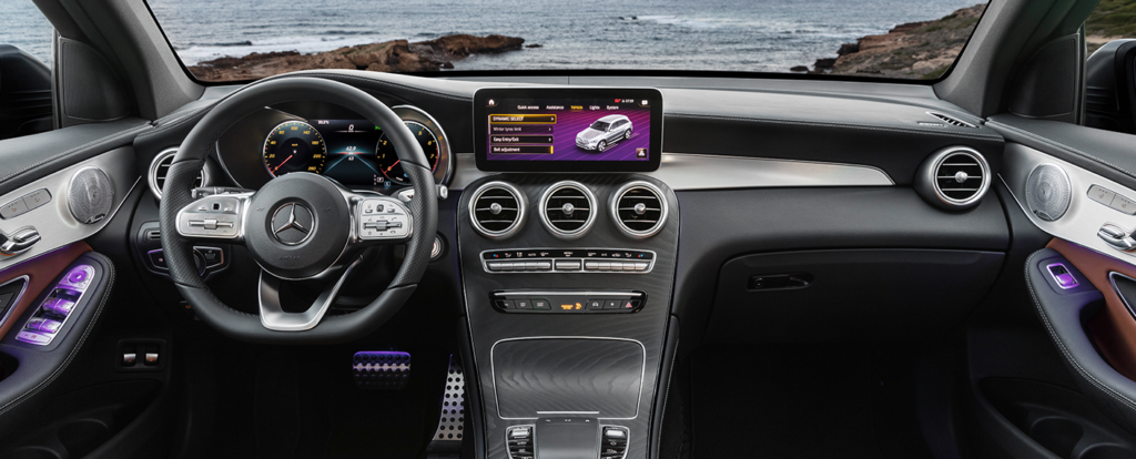 Mercedes GLC Interior Entertainment system