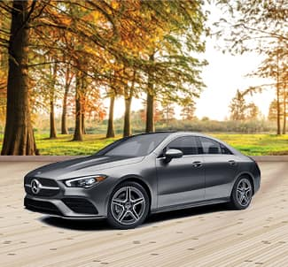 2020 Mercedes-Benz Durham CLA 250 with Fall Background
