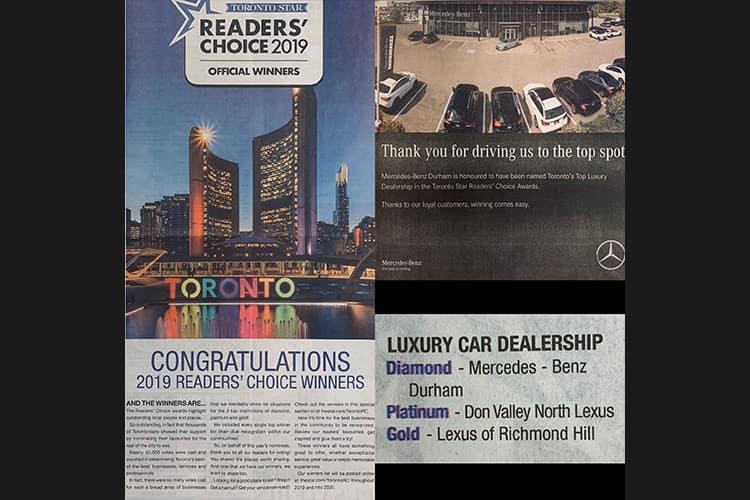 Mercedes Benz Durham Award