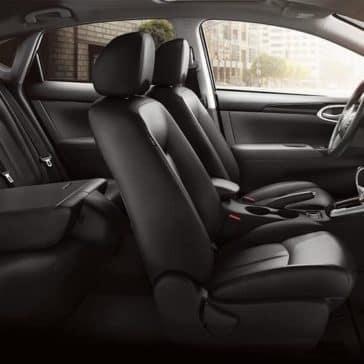 nissan sentra folded rear seat original