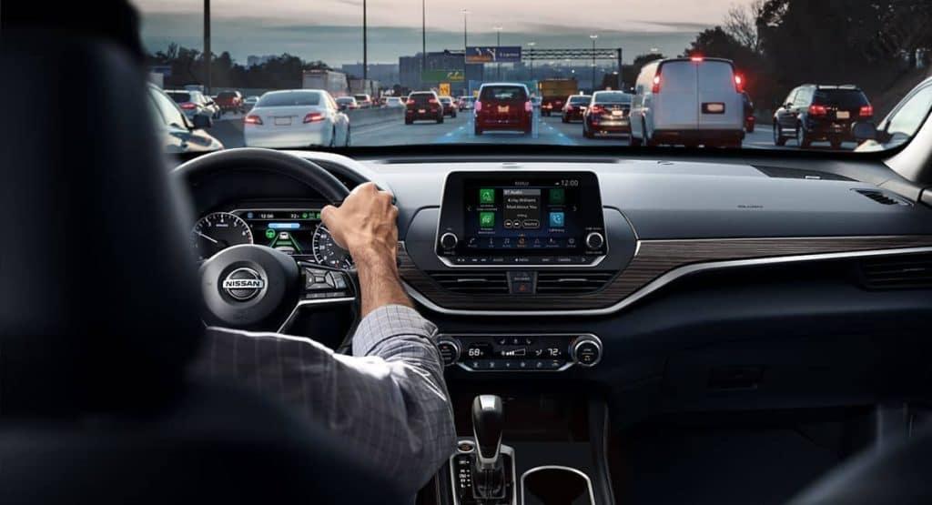 2019 Nissan Altima interior view of driver