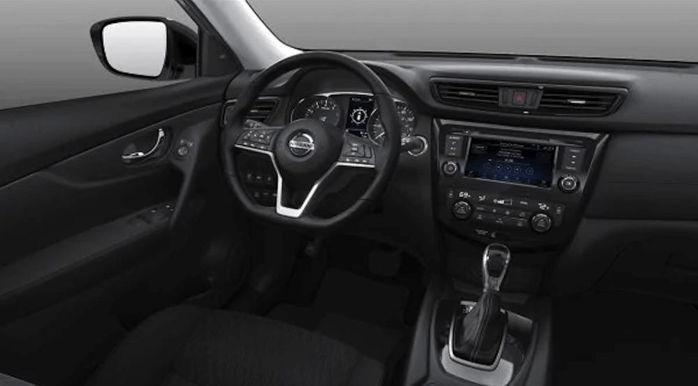 2019 Nissan Rogue SUV interior dashboard and steering wheel