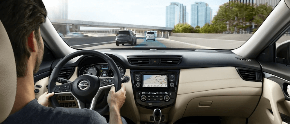 2019 Nissan Rogue Interior from driver's view