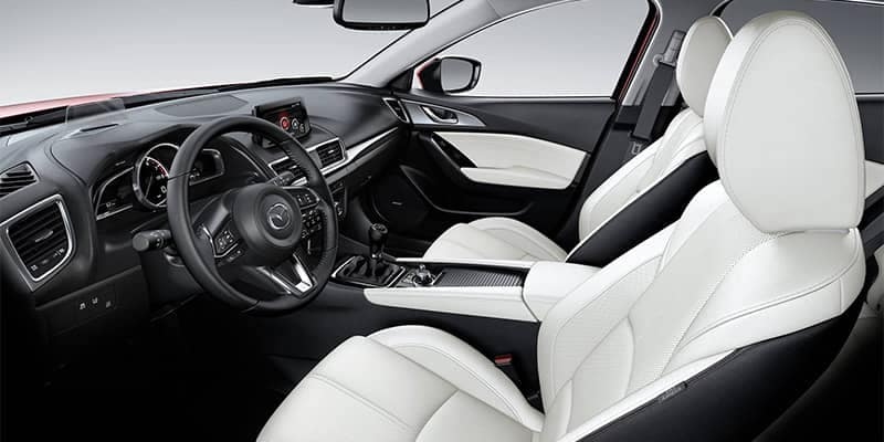 2018 Mazda3 Interior Fron Seating and Dashboard Features