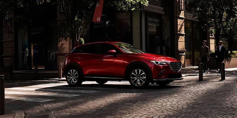 2019 Mazda CX-3 Stopped at Street Corner