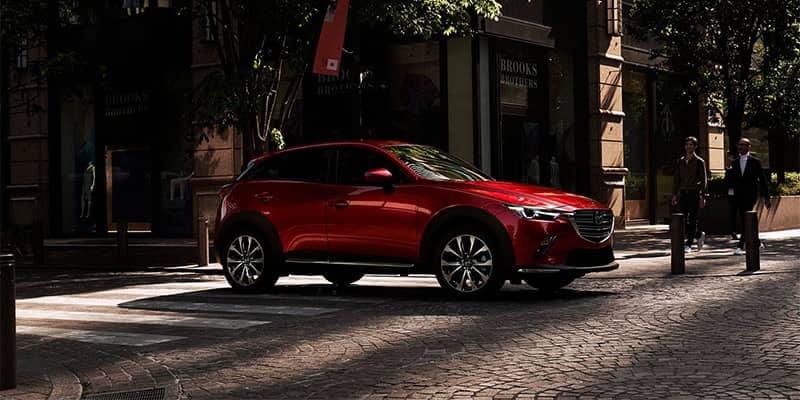 2019 Mazda CX-3 Stopped at Street Corner