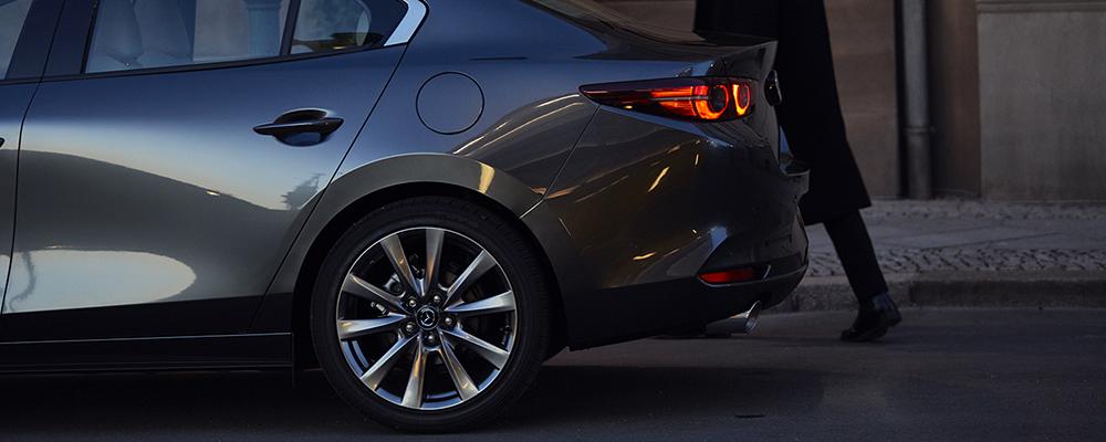 2019 Mazda3 sedan back tire