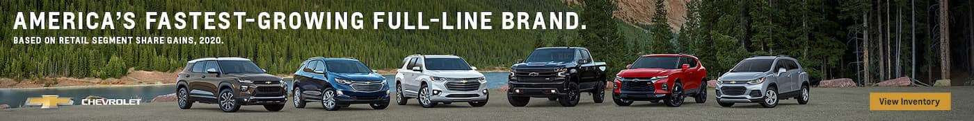 Full lineup Chevy new vehicles