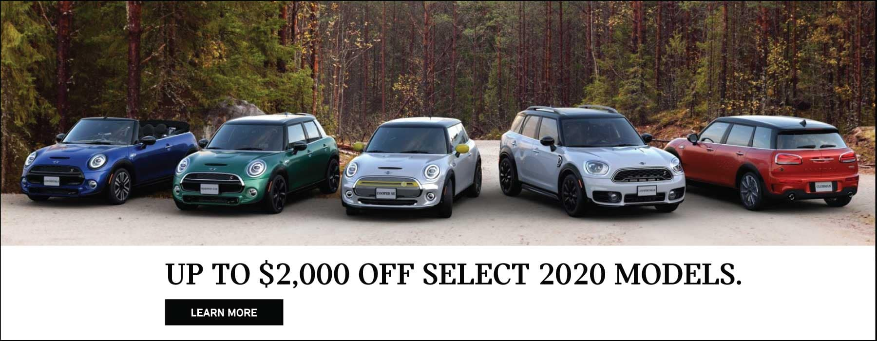 Up to $2000 off select MINI models